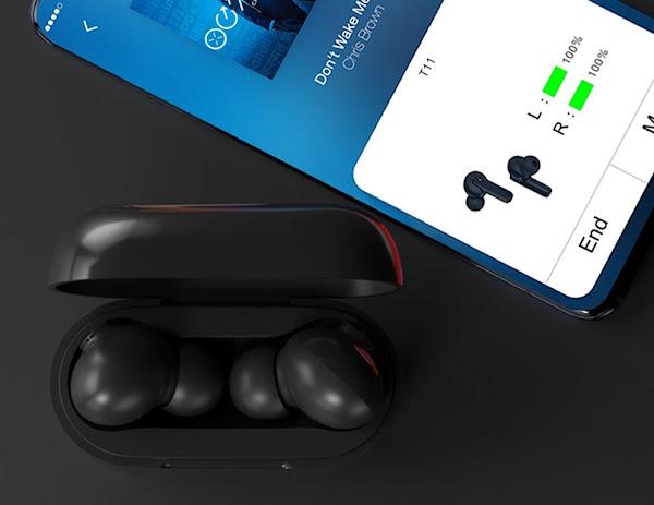 QCY T11 - Fones de ouvido Hi-fi com armadura dinâmica