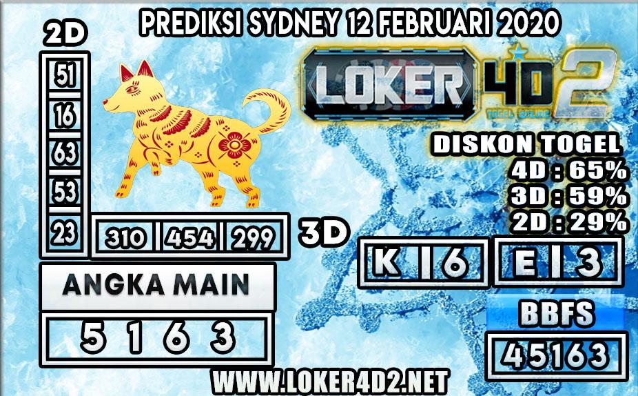 PREDIKSI TOGEL SYDNEY LOKER4D2 12 FEBRUARI 2020
