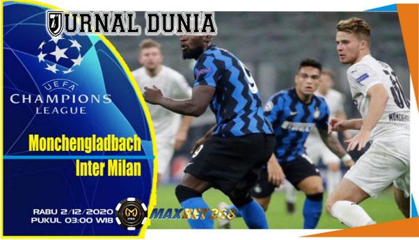 Prediksi Borussia Monchengladbach Vs Inter Milan, Rabu 02 Desember 2020 Pukul 03.00 WIB