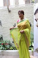 Bollywood Actress Raveena Tandon in Transparent Green Saree at Trailer Launch Of Film Maatr  0007.JPG