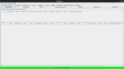 WebScarab main screen