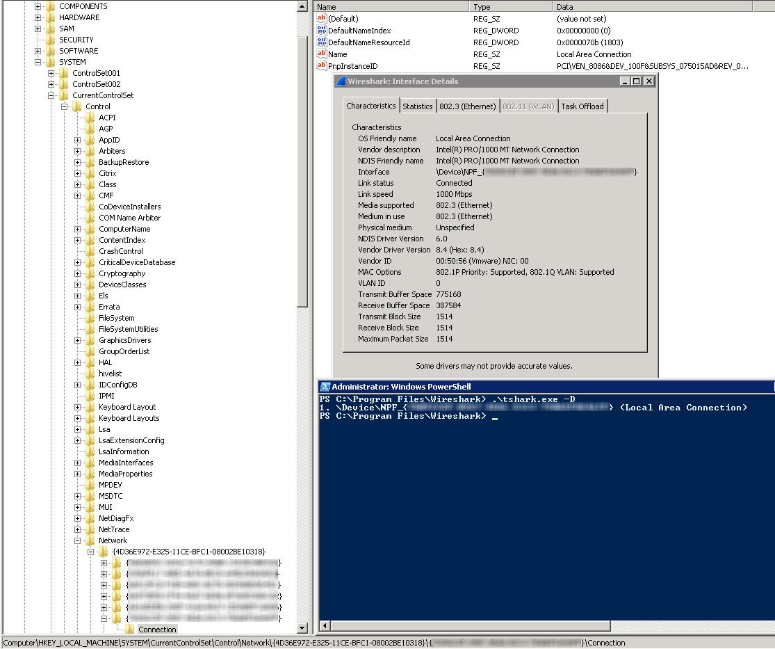 TShark Network Interface Names: Mystery GUID | DAVID URRUTIA