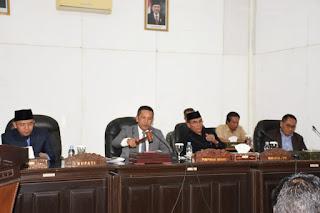Bupati Lombok Utara Sampaikan Nota Pengantar RAPBDP 2019