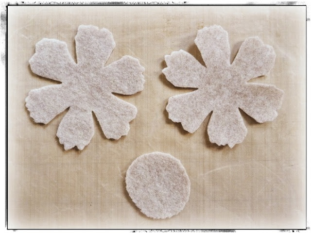 Die-Cut Felt Flower Petals and Base