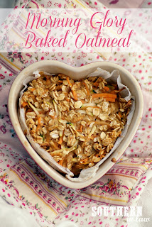 Healthy Single Serve Morning Glory Baked Oatmeal Recipe