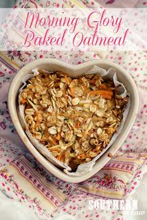 Healthy Single Serve Morning Glory Baked Oatmeal Recipe