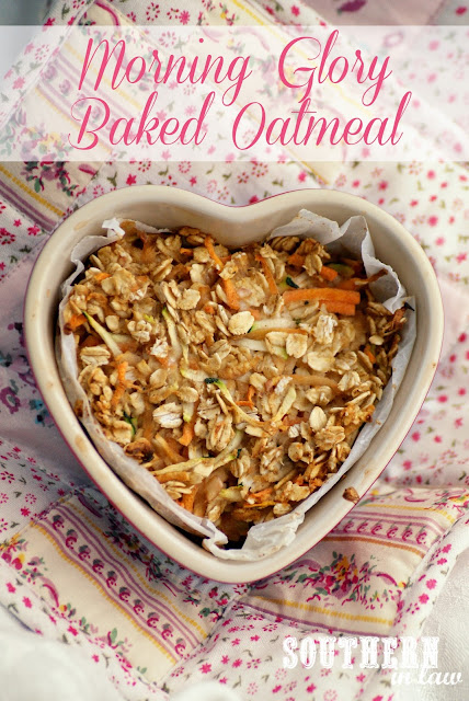 Morning Glory Baked Oatmeal Recipe - Zucchini, Apple, Carrot, Oats