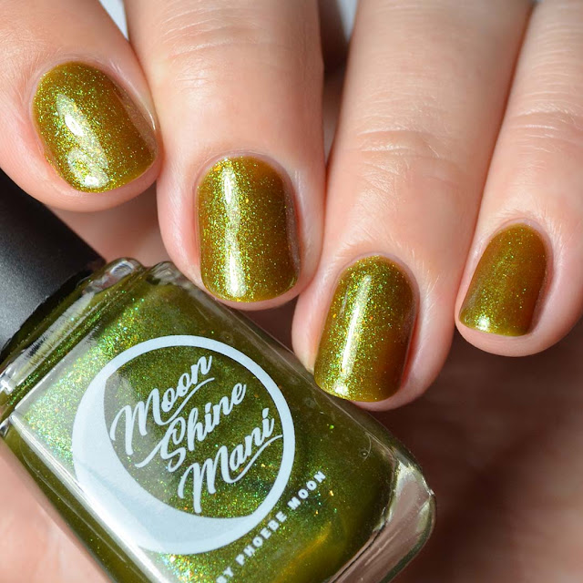 green shimmer nail polish