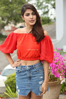 Rhea Chakraborty in Red Crop Top and Denim Shorts Spicy Pics ~  Exclusive 060.JPG