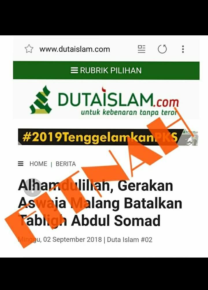 Netizen Bongkar Media Fitnah Seputar Pembatalan Kajian Ustadz Somad