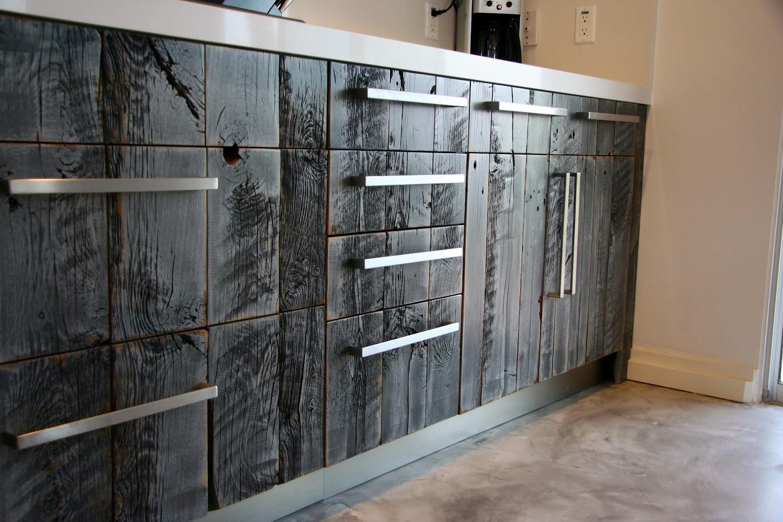 Semihandmade Reclaimed Lumber Kitchen