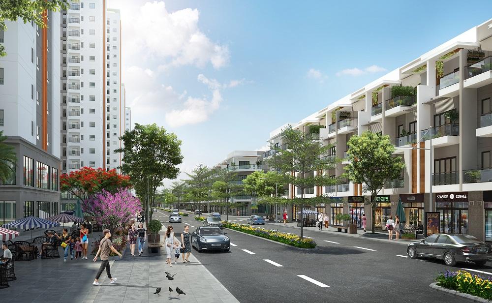 Không gian khu phố thương mại (Shophouse) Him Lam Đại Phúc