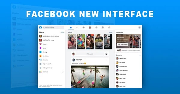 Tampilan Facebook 2020