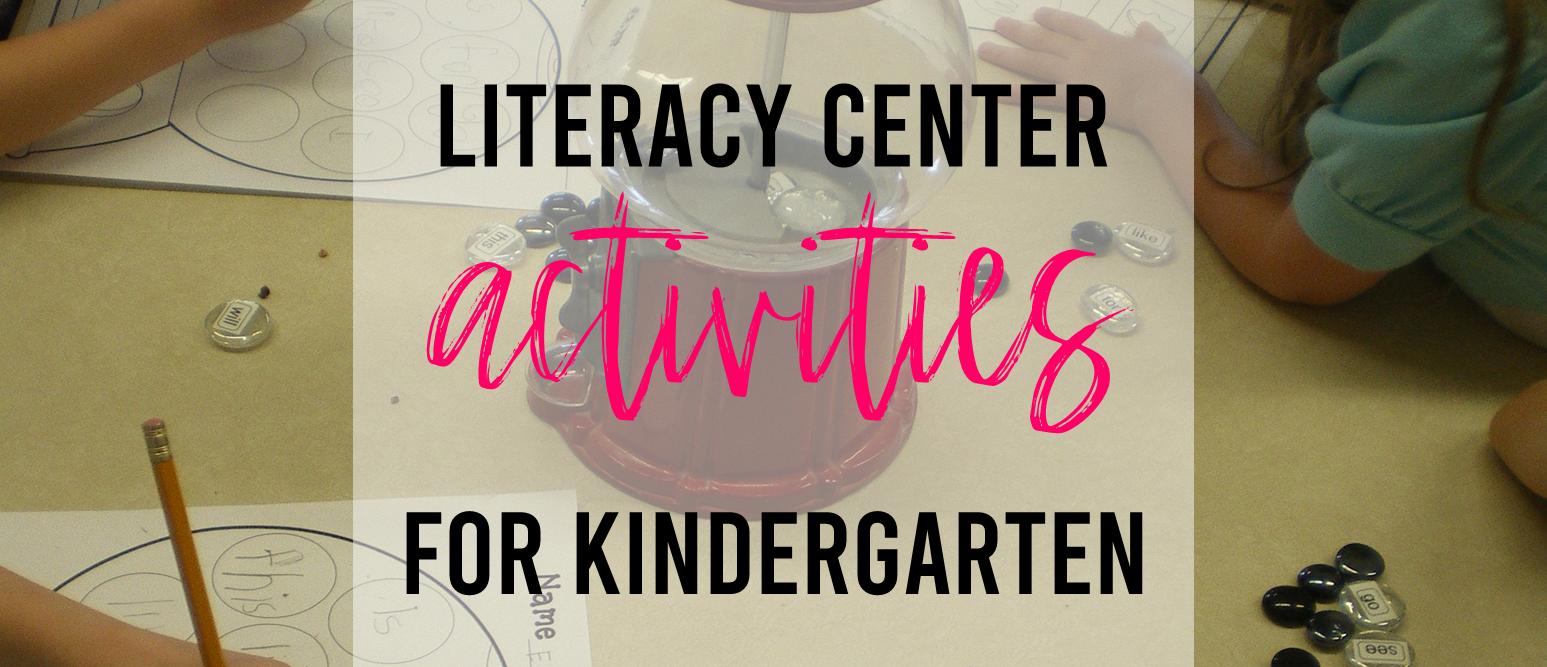 Sight words activities for Kindergarten literacy centers