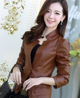 Gambar Jacket Kulit Wanita Modern