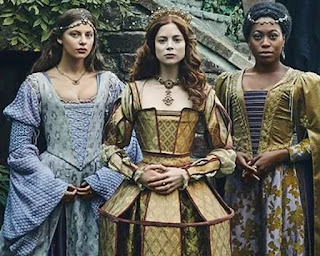 Catherine of Aragon and her two ladies-in-waiting from The Spanish Princess