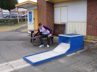 Closed down Crazy Golf course in Skegness, Lincolnshire