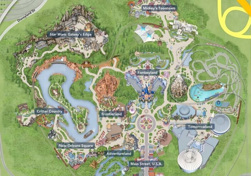 Disneyland Star Wars mapa