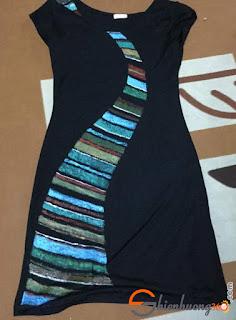 vẽ áo với màu acrylic- Tác phẩm của chị Biêng Biếc