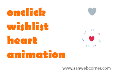 WishList Heart Animation on Click