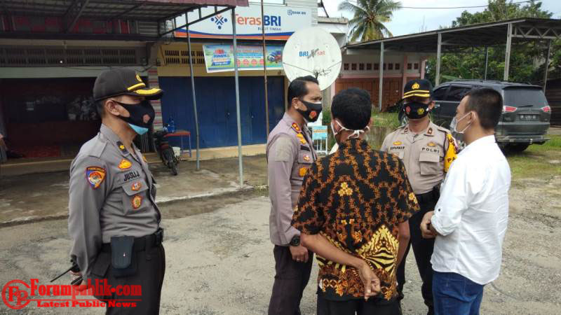 Kapolres Temukan Pelanggaran Kampanye Paslon di Teluk Binjai Dumai Timur