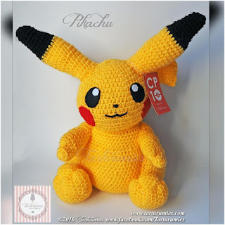 patron amigurumi Pikachu tarturumies