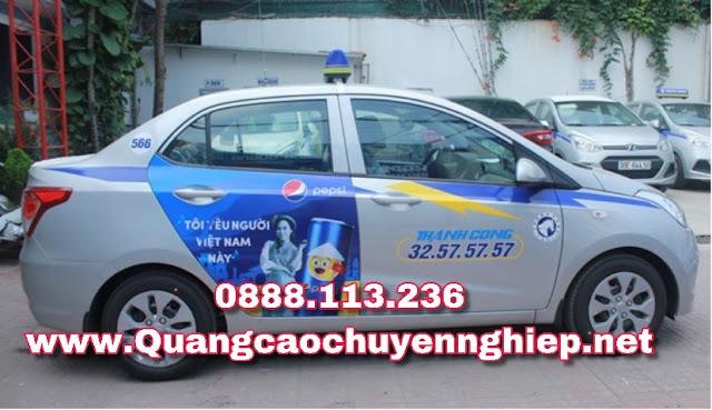 Dán decal quảng cáo trên Taxi tại Hà nội