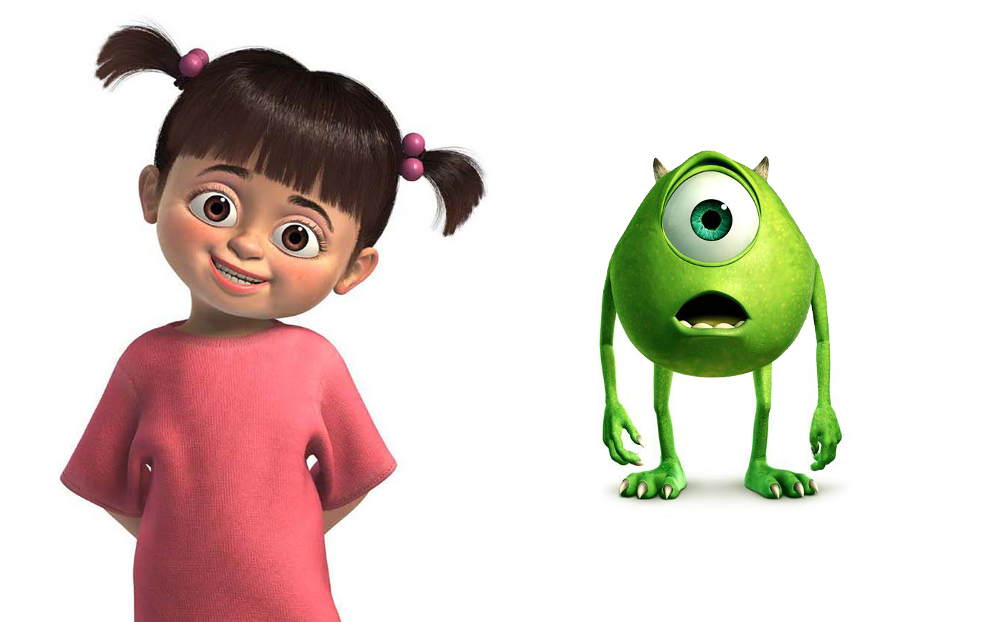 Cute Baby With Teddy Bear Wallpapers Animation Monsters Inc Wallpaper A Cartoon Movie