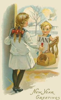 Happy New Year 2017 Vintage Images