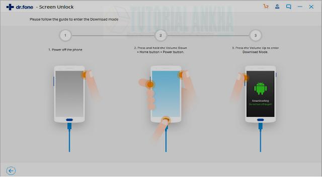 Membuka kunci ponsel Android menggunakan dr.fone
