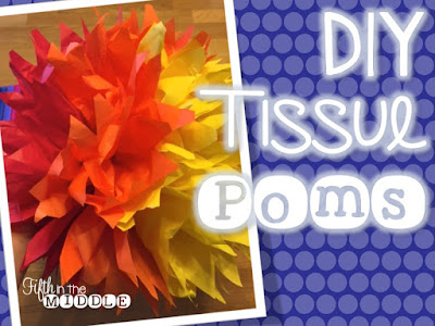 Use tissue paper to make these fun poms in your room's colors.