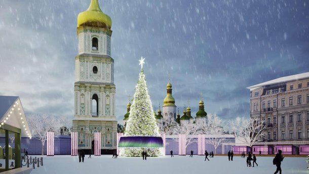 На головній ялинці Києва буде 10 тонн прикрас