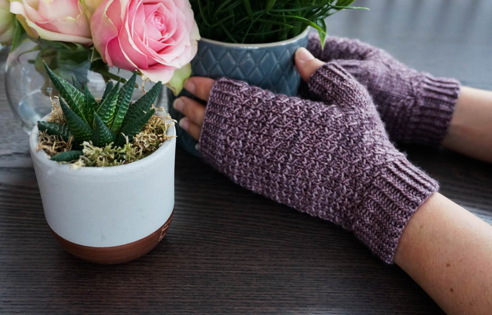 Sandy Point Mitts by West Beach Knits