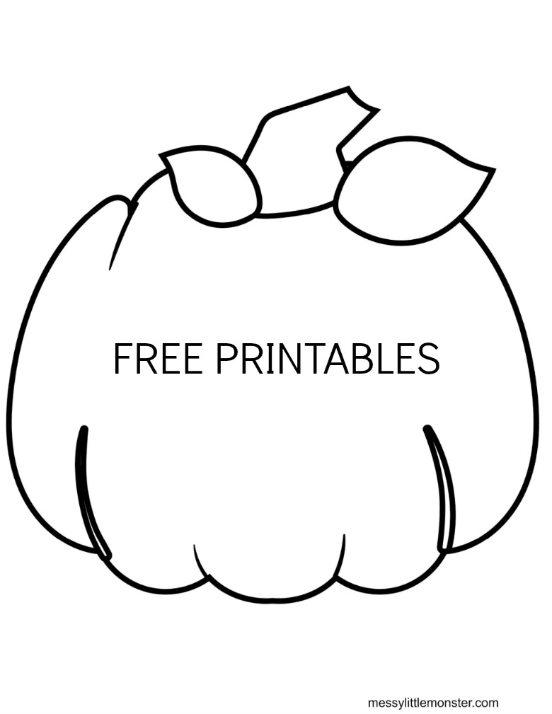 printable pumpkin colouring page