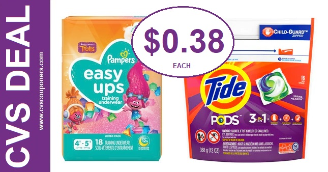 Pampers & Tide CVS Gift Card Deals