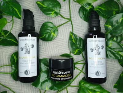 Alteya Organics Bio Damascena Organic Rose Otto Day Moisturizer, Eye Cream and Night Moisturizer