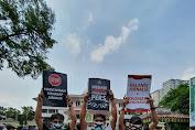 FJM Geruduk Kantor Wali Kota Medan, Peserta Aksi Lakban Mulut