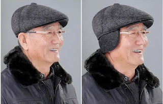 冷える耳への防寒!耳当て付きハンチングメンズ帽子