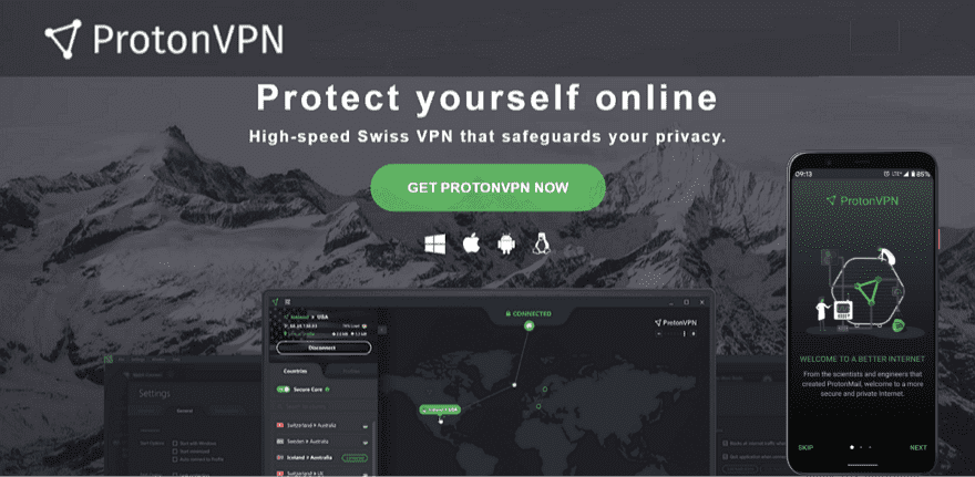 ProtonVPN 免費 VPN 連線工具,提供美國、日本、荷蘭伺服器不限制流量