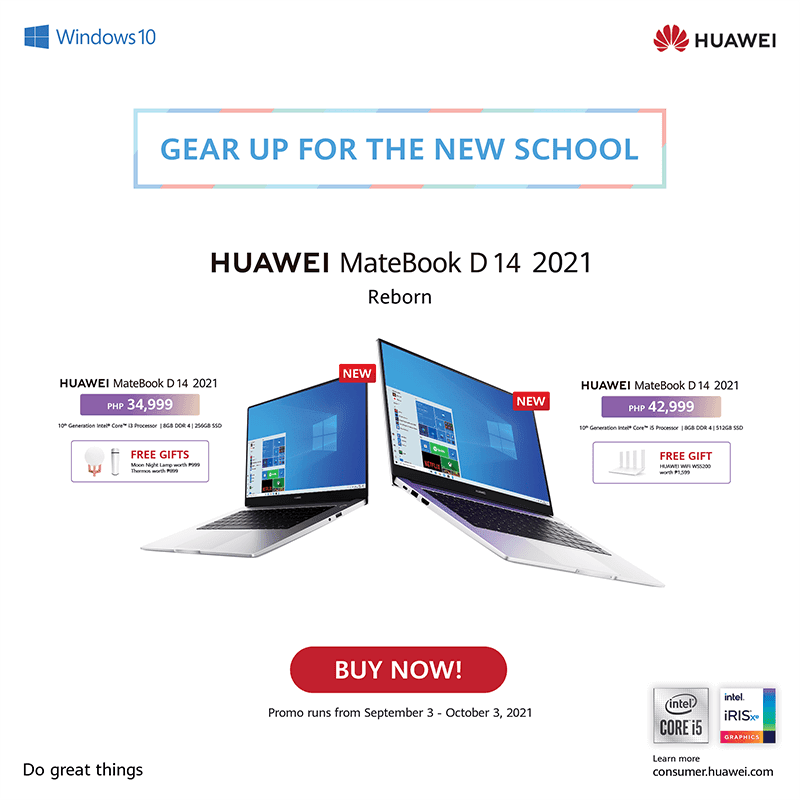 Here are the bundles for the Huawei MateBook D 14 2021
