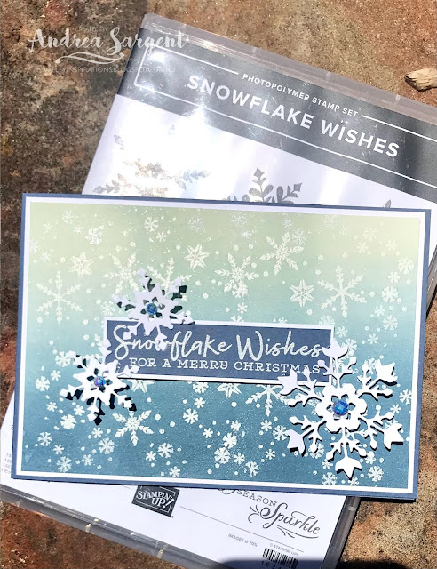 Misty Moonlight Snowflake Wishes Stampin' Up! card, Andrea Sargent, Independent Stampin' Up! Demonstrator, Valley Inspirations, Adelaide foothills, Australia
