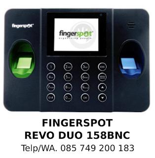 Jual Mesin Absensi Fingerspot Revo Duo 158 BNC Asli Terbaik