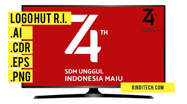 Download DESAIN RESMI Logo HUT RI 74 PNG dan Vector