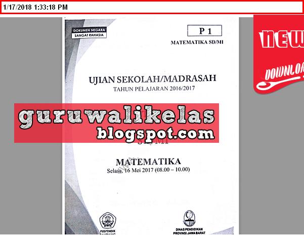 Download Kumpulan Soal Ujian Sekolah Sd Mi Naskah Asli Terbaru Tahun 2017 2018