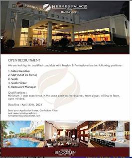 Lowongan Kerja Hermes Palace Hotel Banda Aceh
