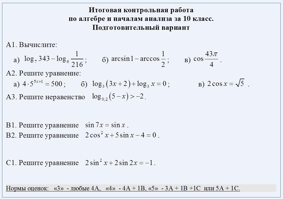 гдз итоговая контрольная работа по алгебре 7 класс