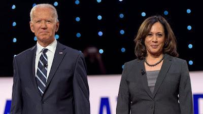 Fotografia de Joe Biden e Kamala Harris