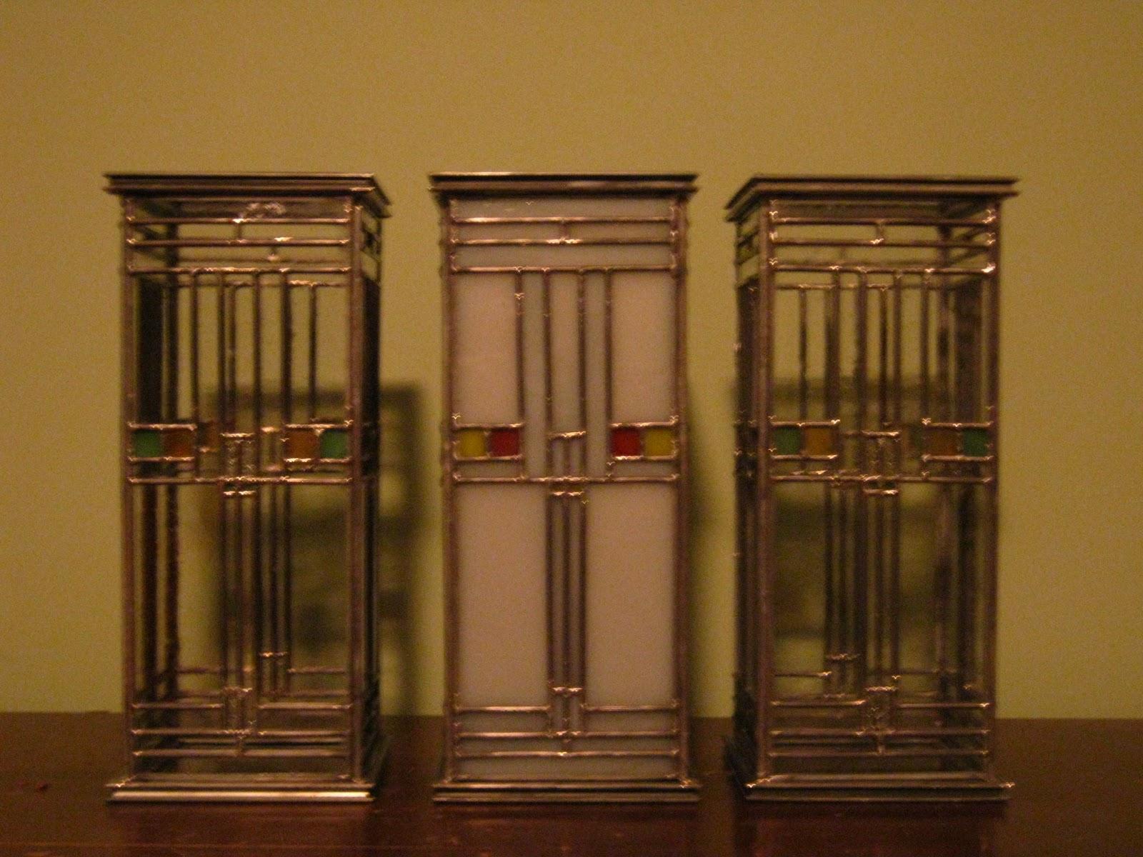 Nik Gl Art Finished Frank Lloyd Wright Candle Holders