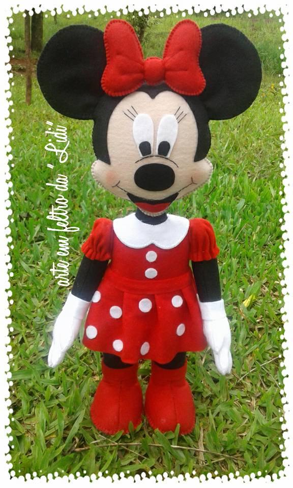 Conhecido Feltro Fácil Moldes e Apostilas: Molde Minnie e Mickey CE42