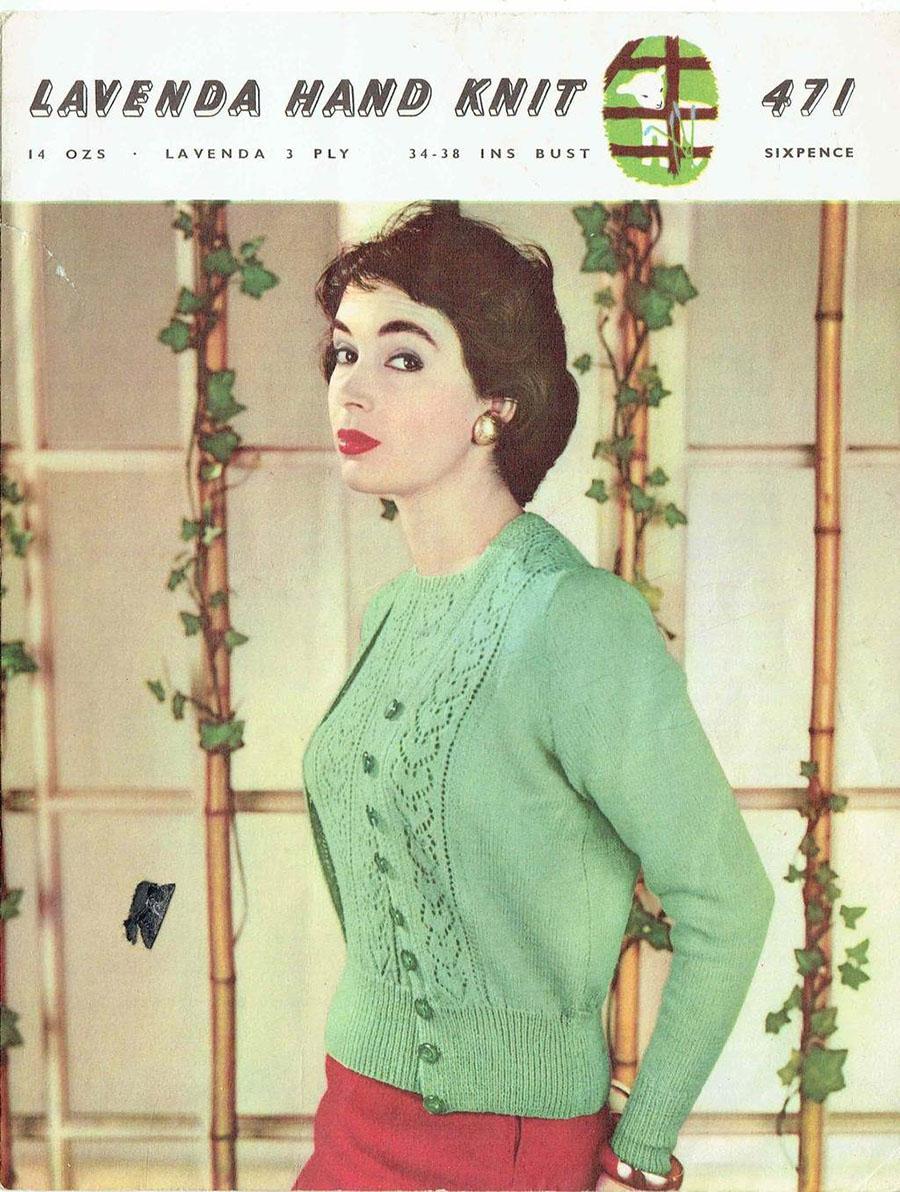 Vintage knitting pattern twinset Lavvanda 471